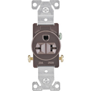 Cooper Wiring 1876B-BOX 20 Amp 3 Wire Grounded Receptacle Brown
