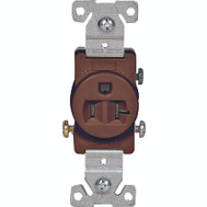 Cooper Wiring 1877B-BOX 20 Amp 3 Wire Grounded Commercial Receptacle