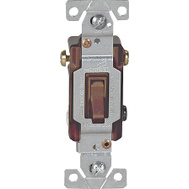 Cooper Wiring 1303B-BOX 3 Way Quiet Toggle Switch Brown