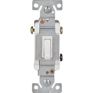 Cooper Wiring 1303W-BOX 3 Way Quiet Toggle Switch White