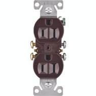 Cooper Wiring 270B Brown Grounded Receptacle