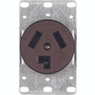 Cooper Wiring 38B-BOX 30 Amp 3 Wire Dryer Power Receptacle