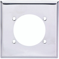 Cooper Wiring 69-BOX 2 Gang Range And Dryer Single Receptacle Plate