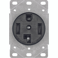 Cooper Wiring 1257-SP 30 Amp 4 Wire Grounded Power Receptacle
