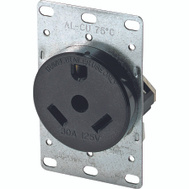 Cooper Wiring 1263-BOX Receptacle Pwr 2P/3W 30A 125V