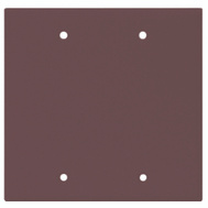 Cooper Wiring 2137B-BOX 2 Gang Standard Blank Wall Plate Brown