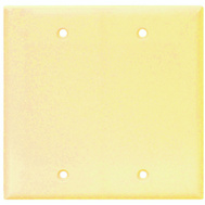 Cooper Wiring 2137V-BOX 2 Gang Standard Blank Wall Plate Ivory