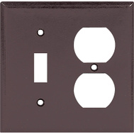 Cooper Wiring 2138B-BOX 2 Gang Standard Toggle Duplex Wall Plate Brown