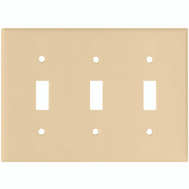 Cooper Wiring 2141V-BOX 3 Gang Switch Wall Plate Ivory