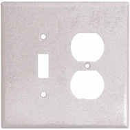Cooper Wiring 2148W-BOX 2 Gang Oversize Toggle And Duplex Wall Plate White