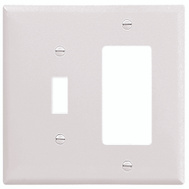 Cooper Wiring 2153W-BOX Combination Wall Plate 2 Gang White