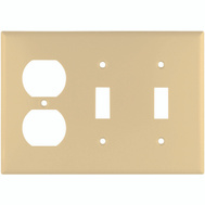 Cooper Wiring 2158V-BOX Combination Standard Wall Plate 3 Gang Ivory