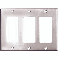 Cooper Wiring 2163W-BOX Decorator 3 Gang Wallplate White