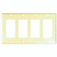 Cooper Wiring 2164V-BOX Smooth Line Decorator 4 Gang Wallplate Ivory