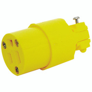 Cooper Wiring 4887-BOX Commercial Grade Thermoplastic Vinyl Connector 125 Volt 15 Amp NEMA 5-15R 3 Wire Yellow