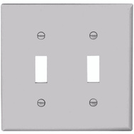 Cooper Wiring 5139W 2 Gang Nylon 2 Toggle Wall Plate White