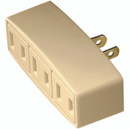 Cooper Wiring BP1747V 3 Outlet 2 Wire Tap And Adapter Ivory