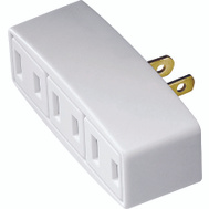 Cooper Wiring 1747W-BOX 3 Outlet 2 Wire Tap White