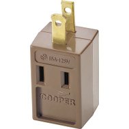 Cooper Wiring 4400B-BOX 3 Outlet 2 Wire Cube Tapping Brown