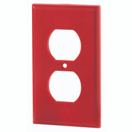 Cooper Wiring 5132RD-BOX 1 Gang Red Receptacle Plate