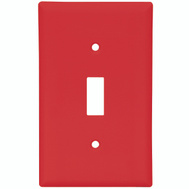 Cooper Wiring 5134RD-BOX 1 Gang Unbreakable Nylon Single Toggle Wall Plate Red