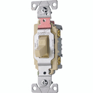 Cooper Wiring CS120V Toggle Light Switch 20A Ivory