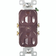 Cooper Wiring CR15B Commercial Grade Duplex Receptacle 15A Brown