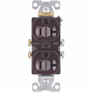 Cooper Wiring CR20B Brown Grounded Duplex Receptacle 20A