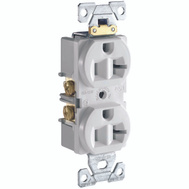 Cooper Wiring CR20W White Grounded Duplex Receptacle 20A