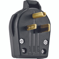 Cooper Wiring S42-SP 3 Wire Grounded Power Plug Black