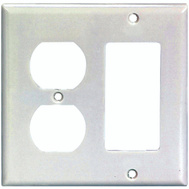 Cooper Wiring 2157W-BOX 2 Gang Duplex Receptacle And Decor Switch