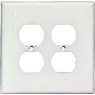 Cooper Wiring 2750W-BOX 2 Gang Oversize 2 Duplex Receptacle Wall Plate White
