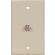 Cooper Wiring 1172V Coaxial Jack With Wall Plate Ivory
