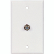 Cooper Wiring 1172W Coaxial Jack With Wall Plate White