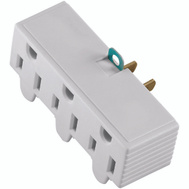 Cooper Wiring BP1219W 3 Grounding Outlet Adapter White