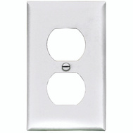 Cooper Wiring BP5132W 1 Gang Standard Duplex Receptacle Plate White