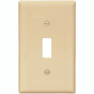 Cooper Wiring BP5134V 1 Gang Toggle Plate Ivory Carded