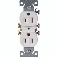 Cooper Wiring 270W10 Duplex Grounded Receptacle White