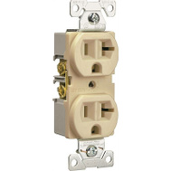 Cooper Wiring BR20A Commercial Duplex 20 Amp Almond