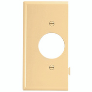 Cooper Wiring STE7V Snap Together Single Receptacle End Plate Ivory