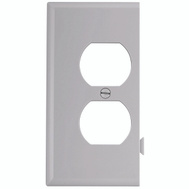 Cooper Wiring STE8W Snap Together Duplex Receptacle End Plate White