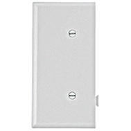Cooper Wiring STE14W Snap Together Strap Mount End Plate White