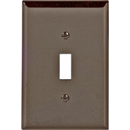 Cooper Wiring PJ1B 1 Gang Mid Size Toggle Plate Brown