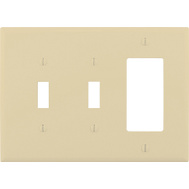 Cooper Wiring PJ226V Ivory 2 Toggle/1 Rocker Wall Plate