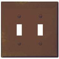 Cooper Wiring PJ2B 2 Gang Toggle Plate Brown