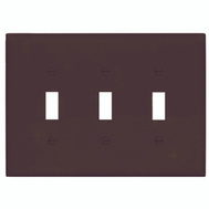 Cooper Wiring PJ3B 3 Gang Toggle Plate Brown