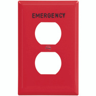 Cooper Wiring PJ8EMRD Red Emergency Receptical Plate