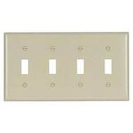 Cooper Wiring 2154LA-BOX Wallplate Toggle Lt Almond 4G