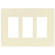 Cooper Wiring PJS263LA Wallplate Screwless Deco 3G