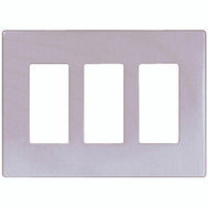 Cooper Wiring PJS263W Decorative Screwless Wall Plate 3 Gang White